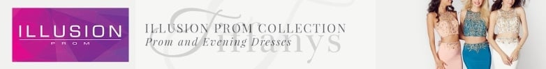 White Tiffanys Illusion Prom Prom Dresses
