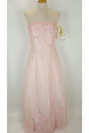 Belinda Baby Pink Strapless Ball Gown