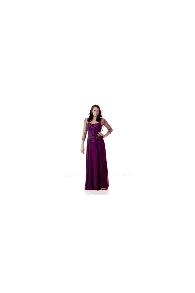 Crystal Breeze Dark Purple Jayne Long Ball Gown with Jacket