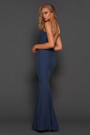 Abba Slate Low Back Bustier Gown