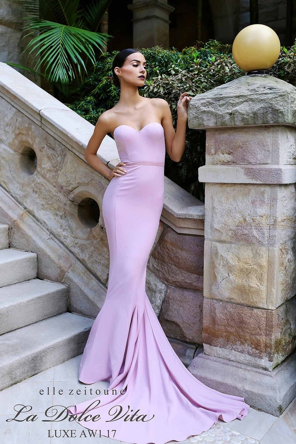 Arianna blush Strapless Mermaid Gown in the UK best prices