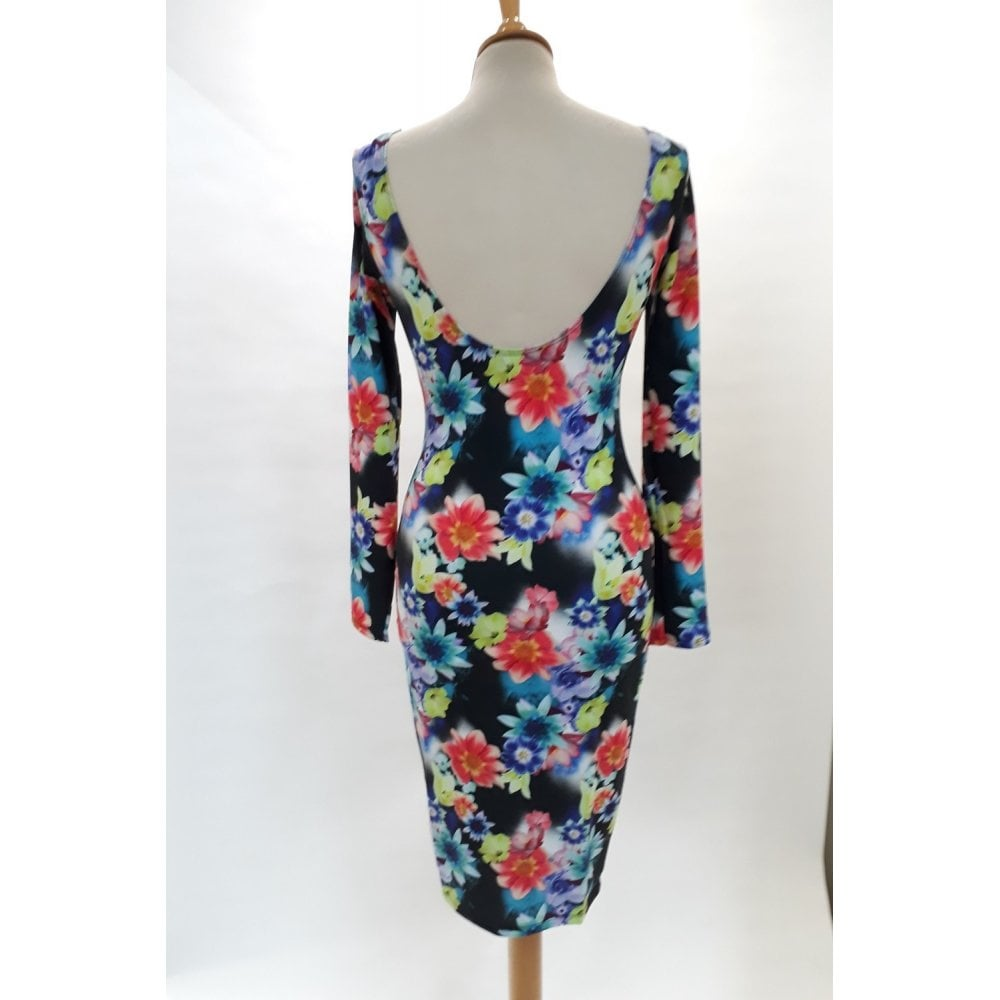New Ex-chainstore Floral Bodycon Summer Party Dress Size 8,10,12,14