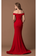 Gino Cerruti Red Crepe Fishtail Gown 1539G