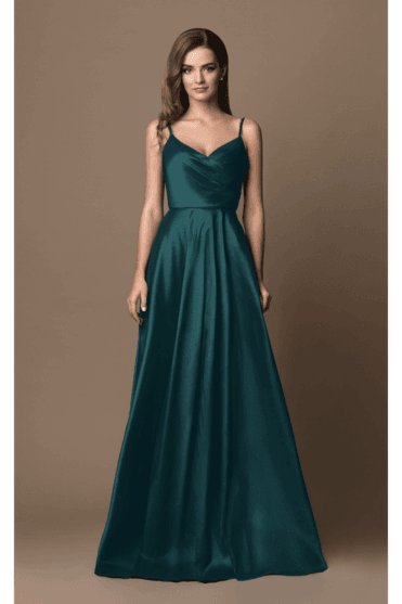 Teal 4005C Sweetheart Strap Dress