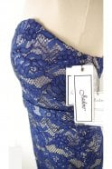 Jadore Navy/Nude J8087 Strapless Lace Dress