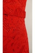 Jadore Red J8087 Strapless Lace Dress
