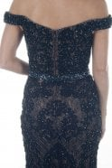 Jessica Stuart Black DSL038 bead detailed lace ball gown