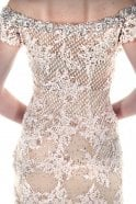 Jessica Stuart Pink champagne dsjn83 embroidery and sparkle gown