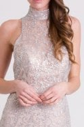 Jessica Stuart Silver and nude extra skirt sparkle dress DSE7920