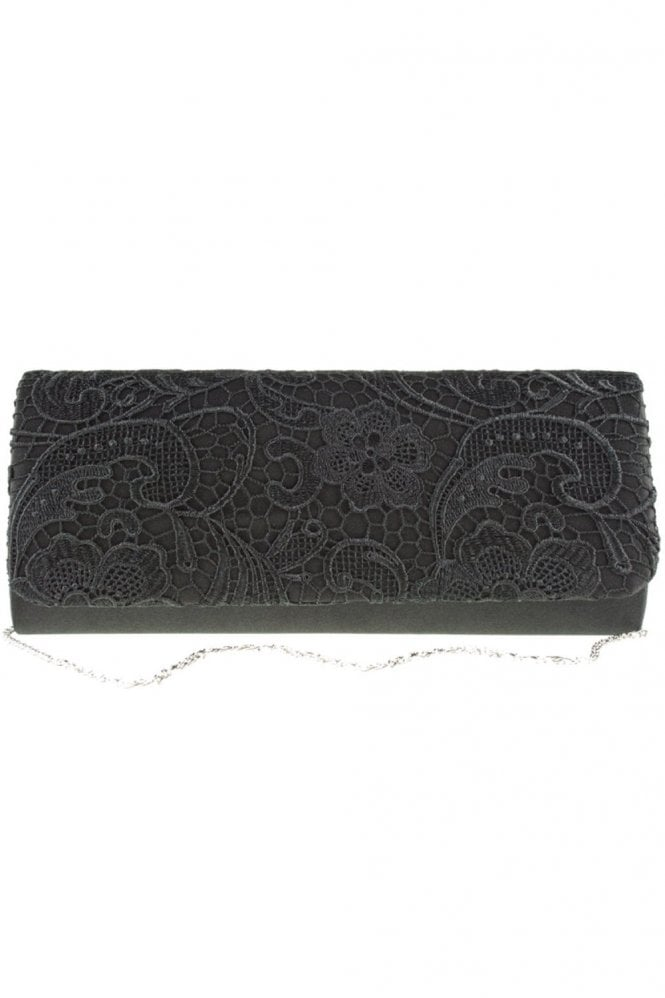 Koko Fashion Bags 2195 Lace Embroidered Bag Black