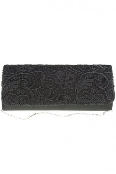 2195 Lace Embroidered Bag Black