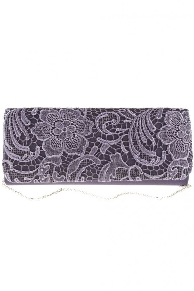 Koko Fashion Bags 2195 Lace Embroidered Bag Dark Blue (Purple)