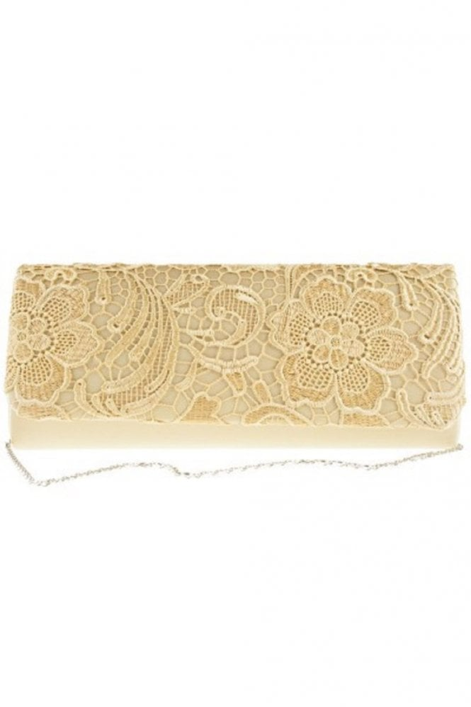 Koko Fashion Bags 2195 Lace Embroidered Bag Gold