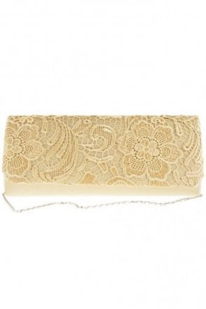 2195 Lace Embroidered Bag Gold