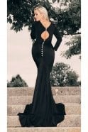 Kristina Rihanoff 1805 long sleeve fitted cutout detail ballgown
