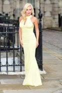 Kristina Rihanoff 1858 fitted halterneck cutout reveal dress