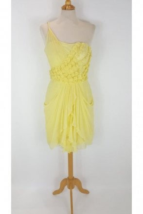 Lemon Petunia LK58 Chiffon Flower Dress