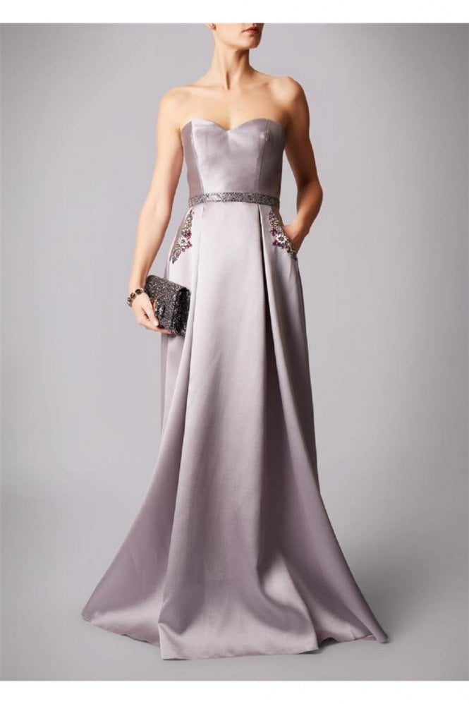 Mascara Charcoal MC161075P satin sweetheart gown