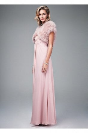 Feather Shrug FK042 Mink with capped sleeves