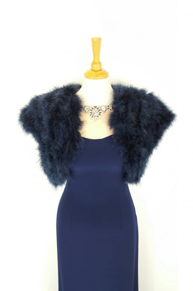 Feather Shrug FK042 Navy with capped sleeves