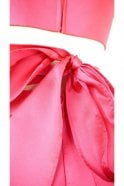 Mascara Fuchsia pink MC161072P satin sweetheart gown