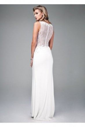 Ivory Lace Back Gown MC161045G