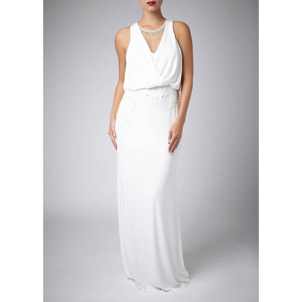Mascara Pour La Femme Lace Back Gown 188123 In Ivory