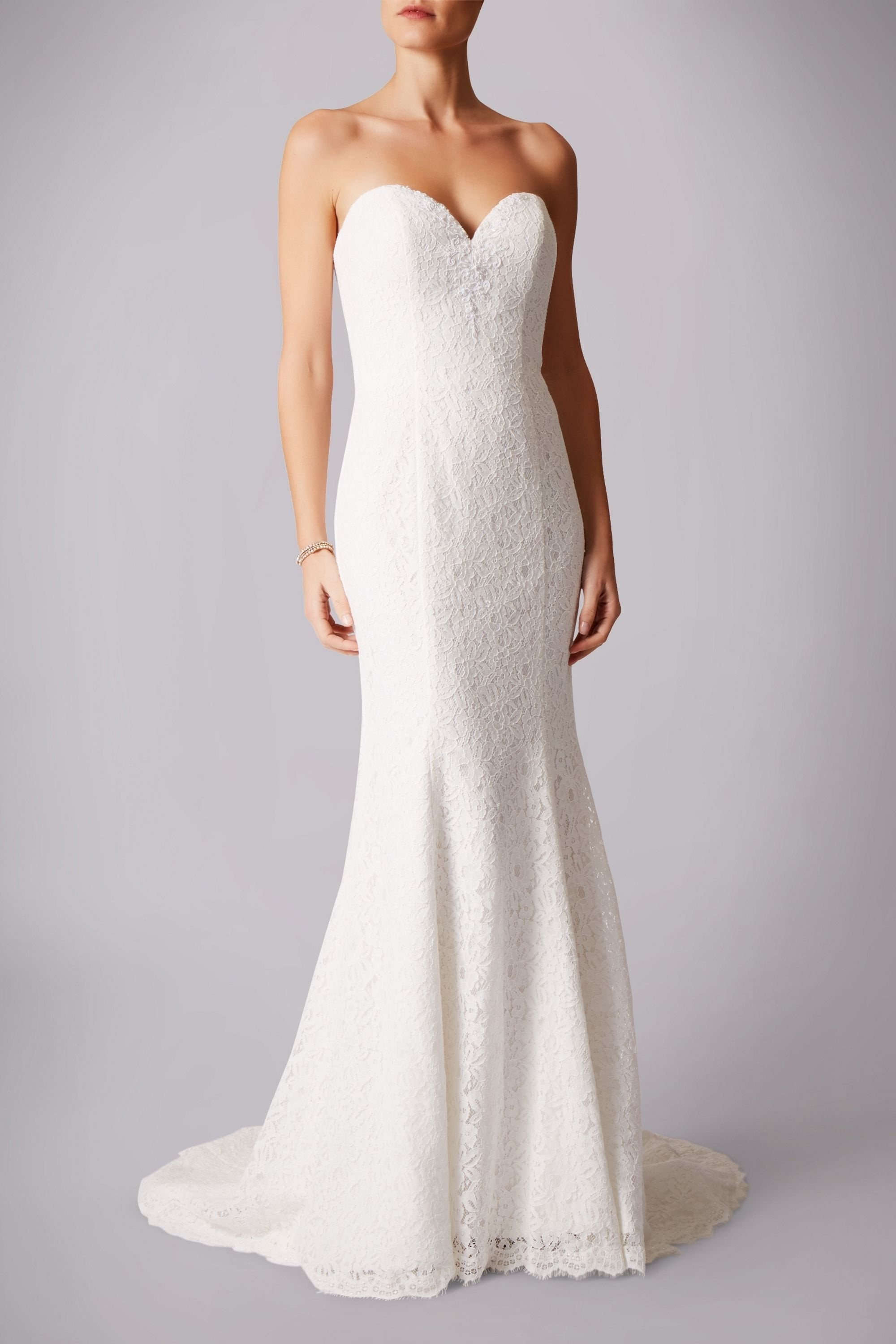 Mascara M C181229b Lace Sweetheart Neckline Dress With Pearl Details