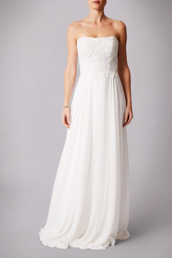 Mascara Ivory MC181283P sequined bustier gown