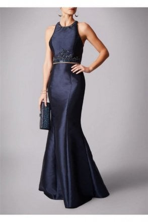 Navy MC161073P two piece dress