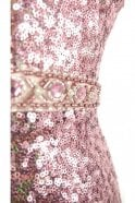 Mascara Rose Pink MC166105 dip dye sequin long dress