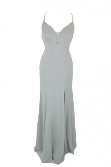Silver MC181397 Plunging v neckline dress