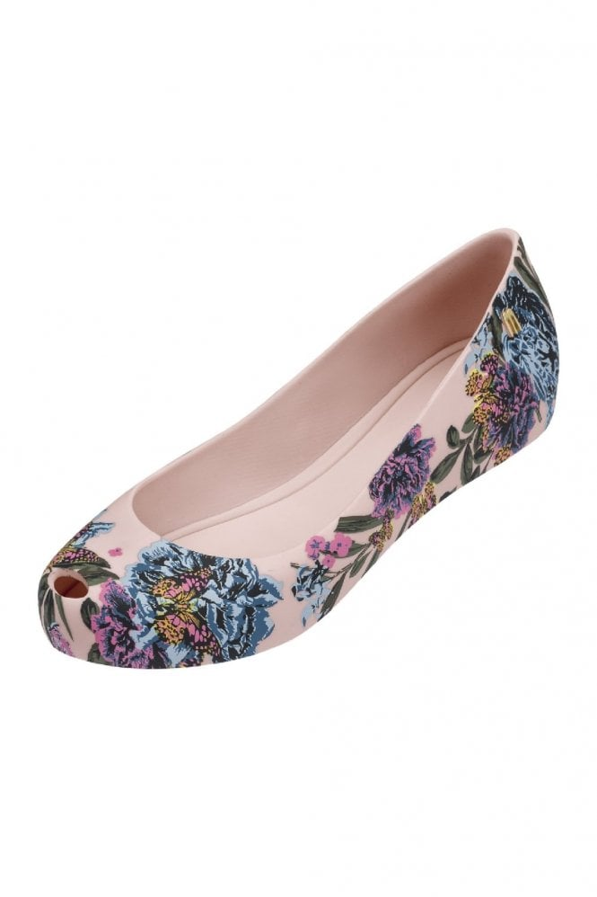 Melissa Shoes Ultragirl 3D 19 flower print shoe in blush