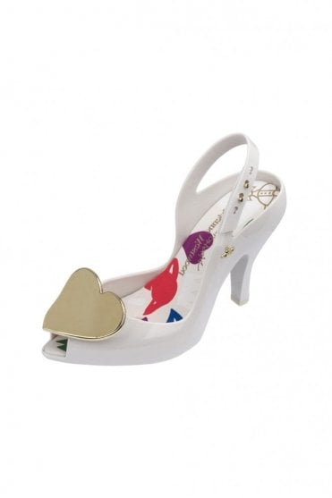 VW Lady Dragon 19 metallic Heart shoe in white
