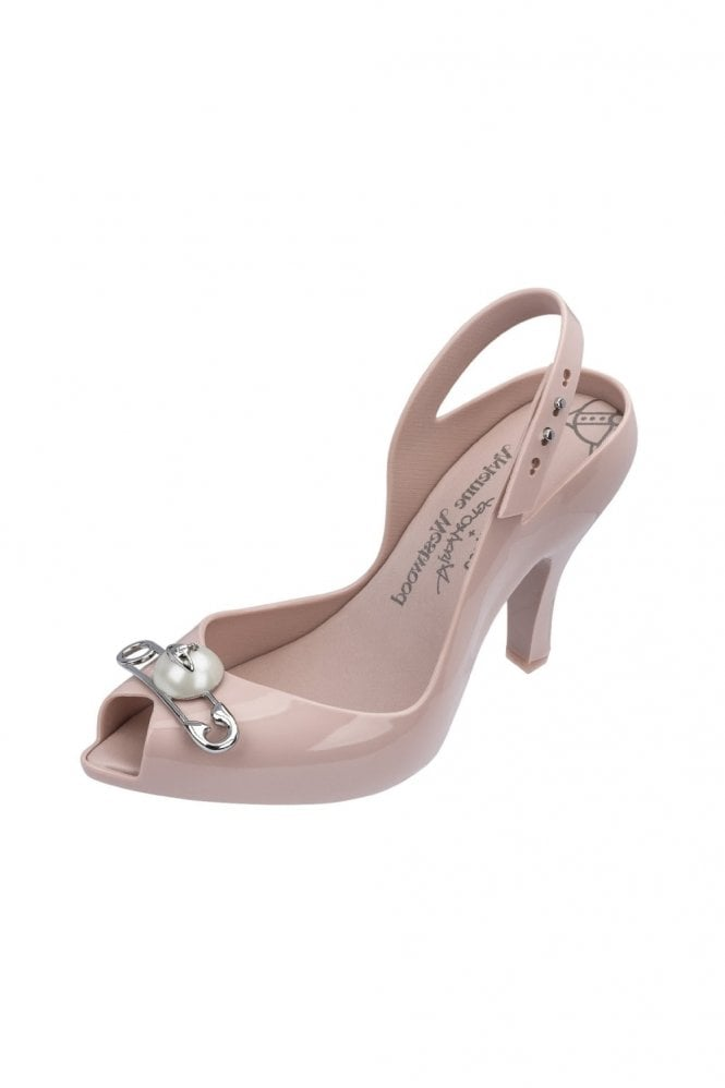 Melissa + Vivienne Westwood VW Lady Dragon 19 Pin shoe in blush