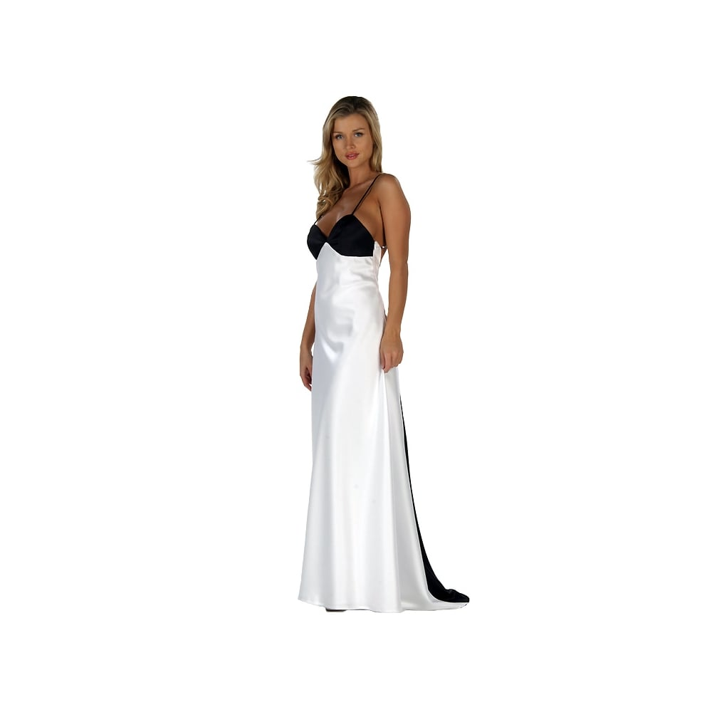 Christiane White odette christiane 9068 showstopper black white dress only cargo