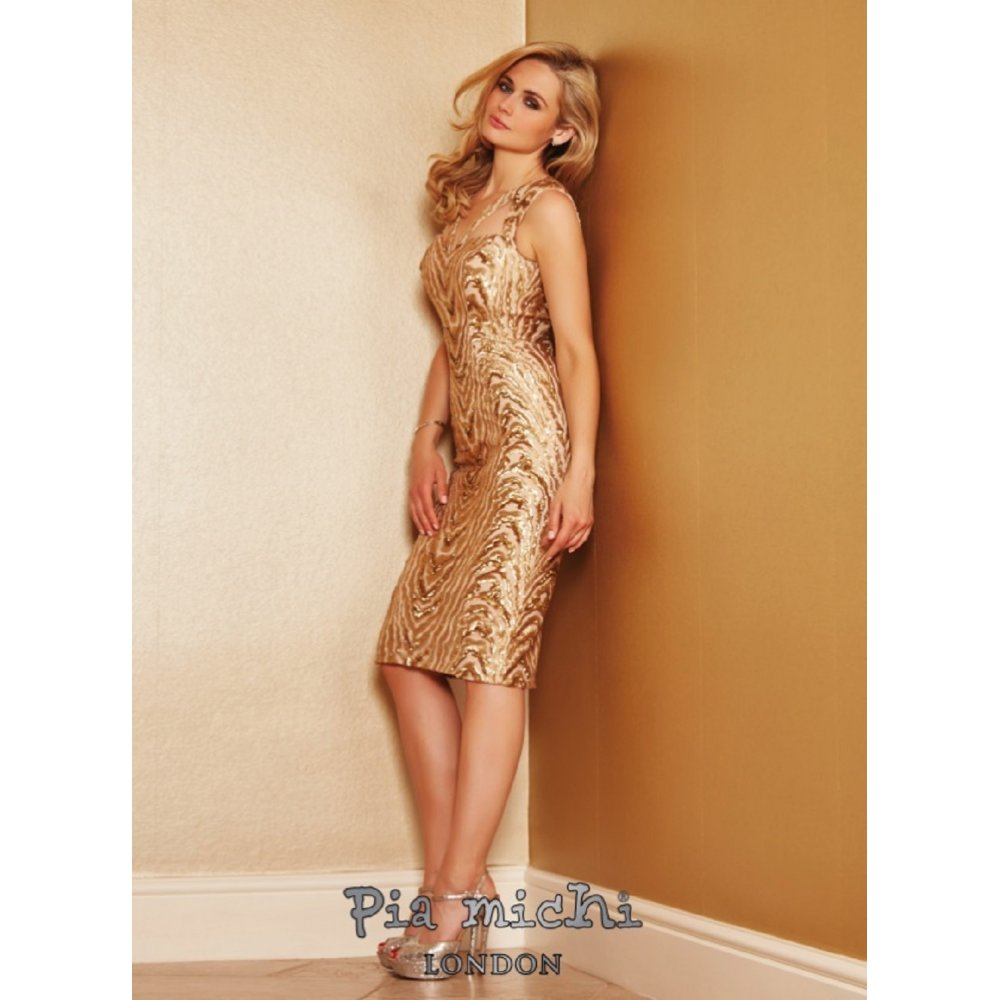 6aeb4def903a Rose Gold Knee Length Cocktail Dress - Down To Earth Bali