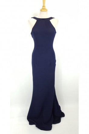Navy 1791 Low Back Bow Detail Jersey Dress