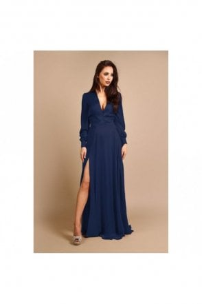 Willow Navy Long Sleeve Dress