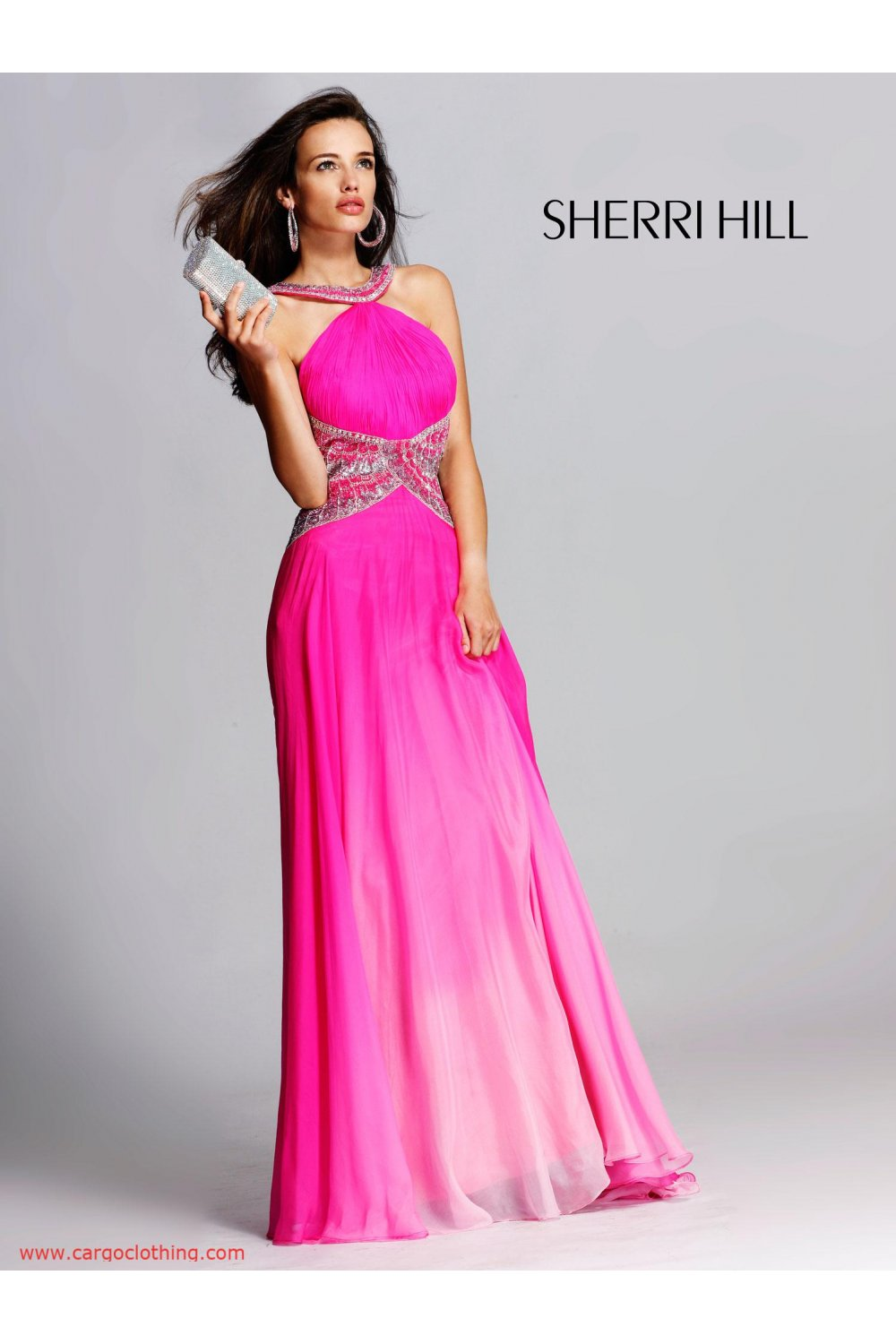 Sherri Hill 2825 open back long dress. UK stock and reduced in Sale