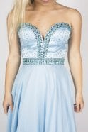 Sherri Hill 32071 light blue bead detail long dress