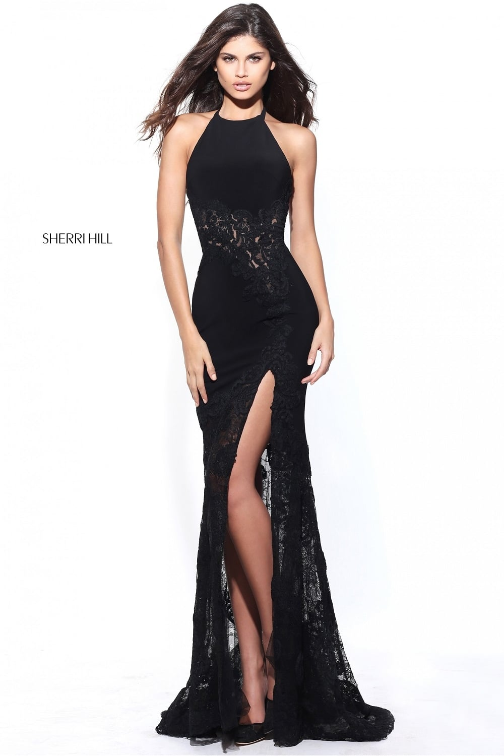 Remarkable, very Sherri hill short black lace dress will
