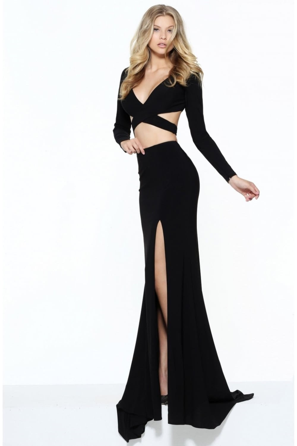 Navy 50920 Long Sleeved Two Piece