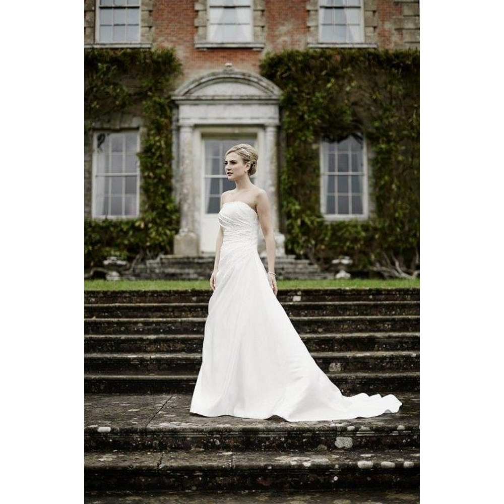 Alice Ivory Strapless Wedding Gown With Train