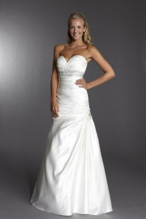 Alison Ivory Strapless Wedding Dress