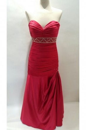 Alison Red Strapless Evening Dress