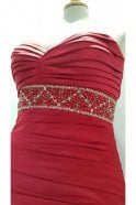 Tiffanys Alison Red Strapless Evening Dress