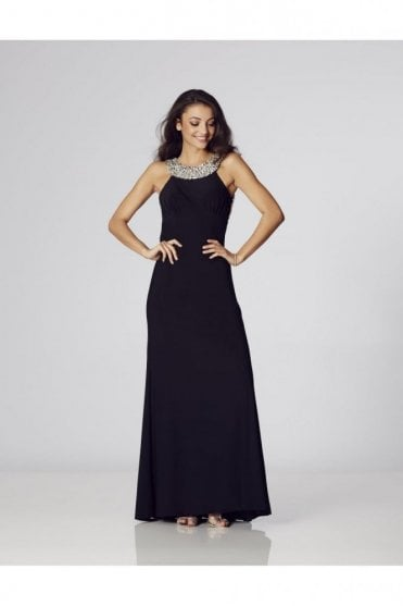 Black Chicago Jewelled Evening gown