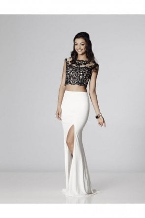 Black/Ivory Belinda Two Piece Gown