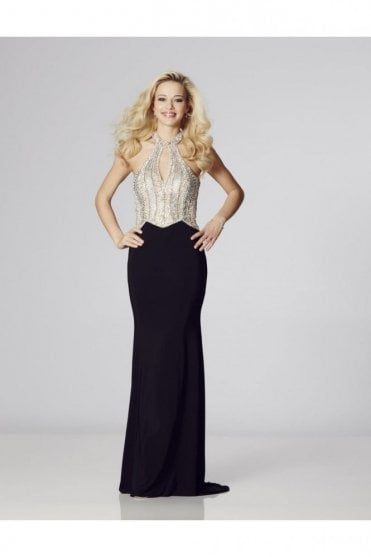 Black Skirt Marlena sparkling bodice dress